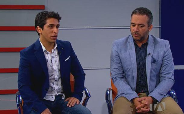 Roger Romero y Aminael Sánchez presentan su emprendimiento