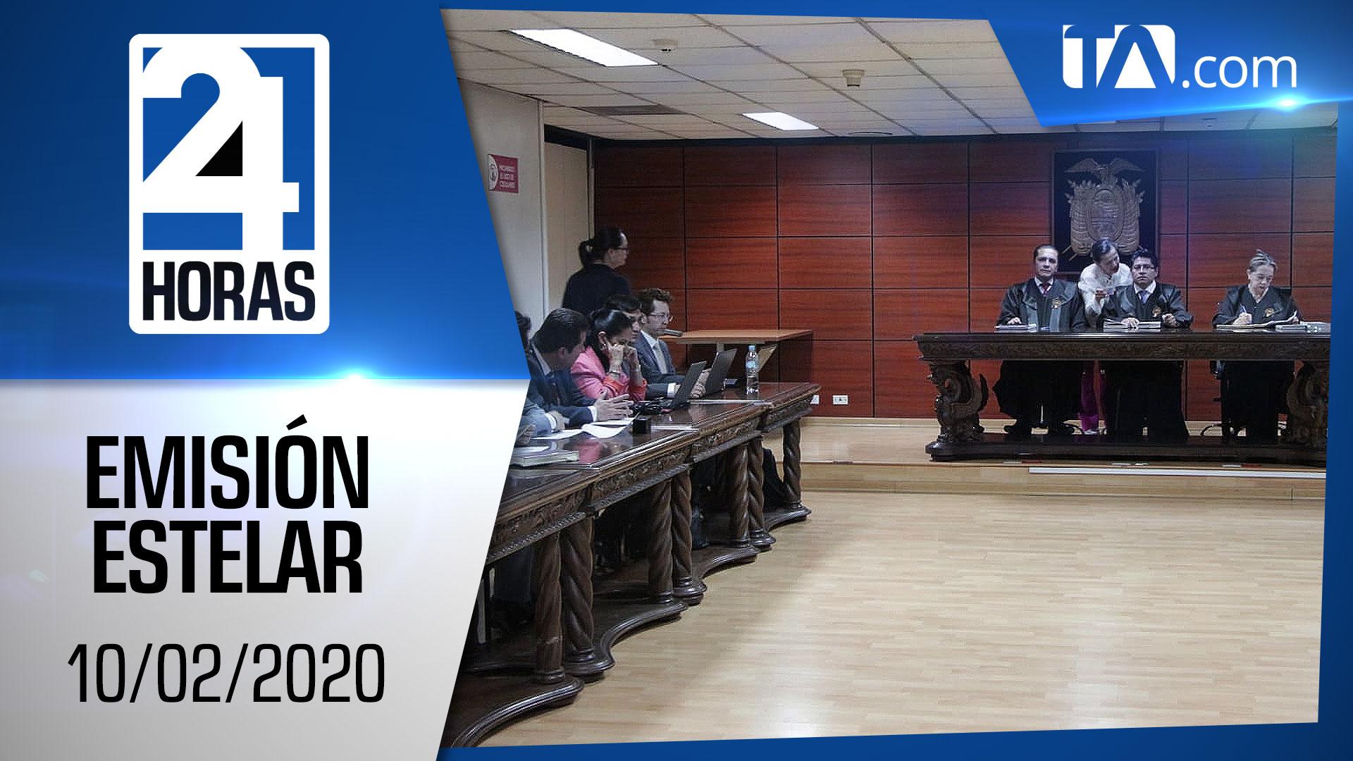 Noticiero 24 Horas, 10/02/2020 (Emisión Estelar)