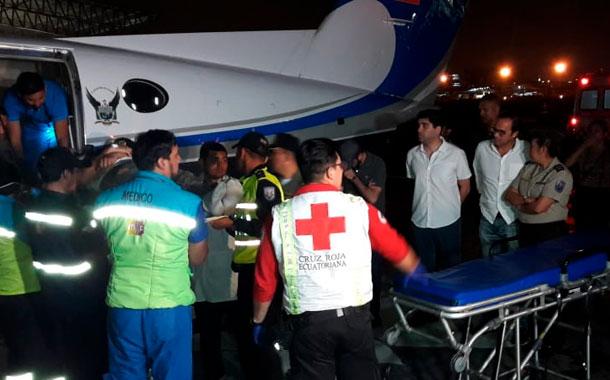 Repatrian a los primeros heridos del Barcelona SC