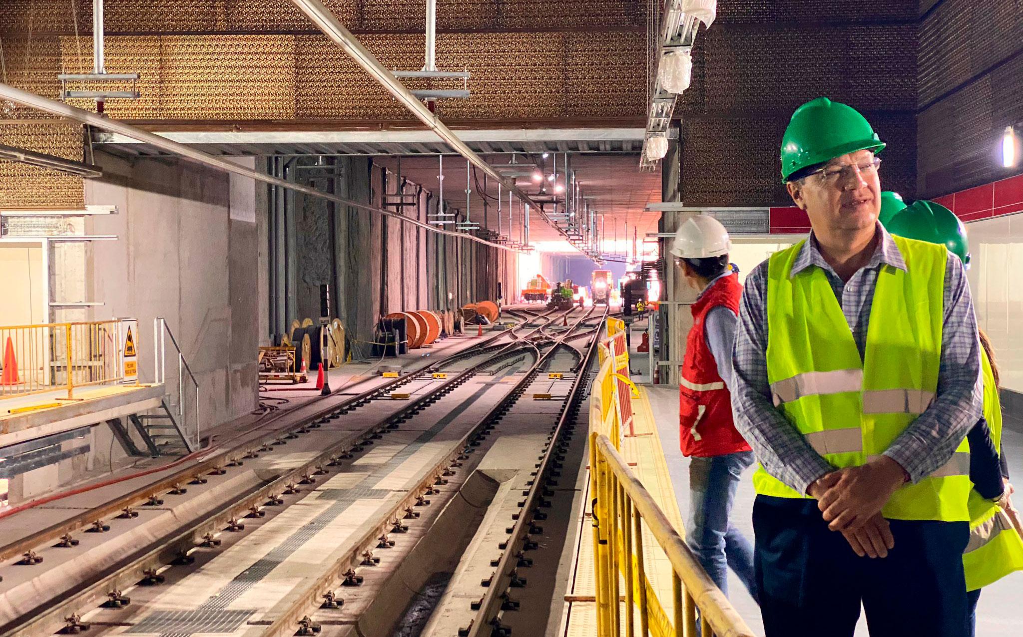 El Metro tiene un avance del 92 % y se estima inicie su operación en octubre