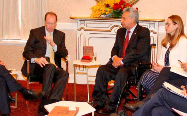 Lenin Moreno se reunió con el presidente del Banco Mundial