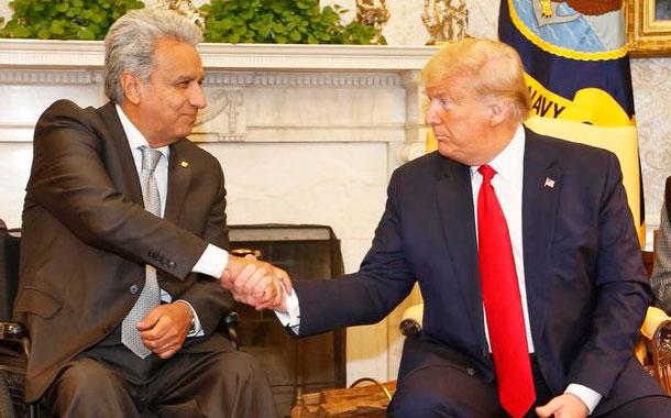 Moreno homenajea a primera suramericana en Congreso de EE.UU.