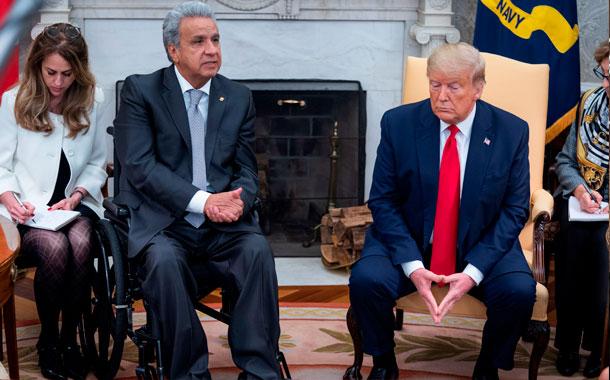 Lenín Moreno y Donald Trump se reunieron en la Casa Blanca