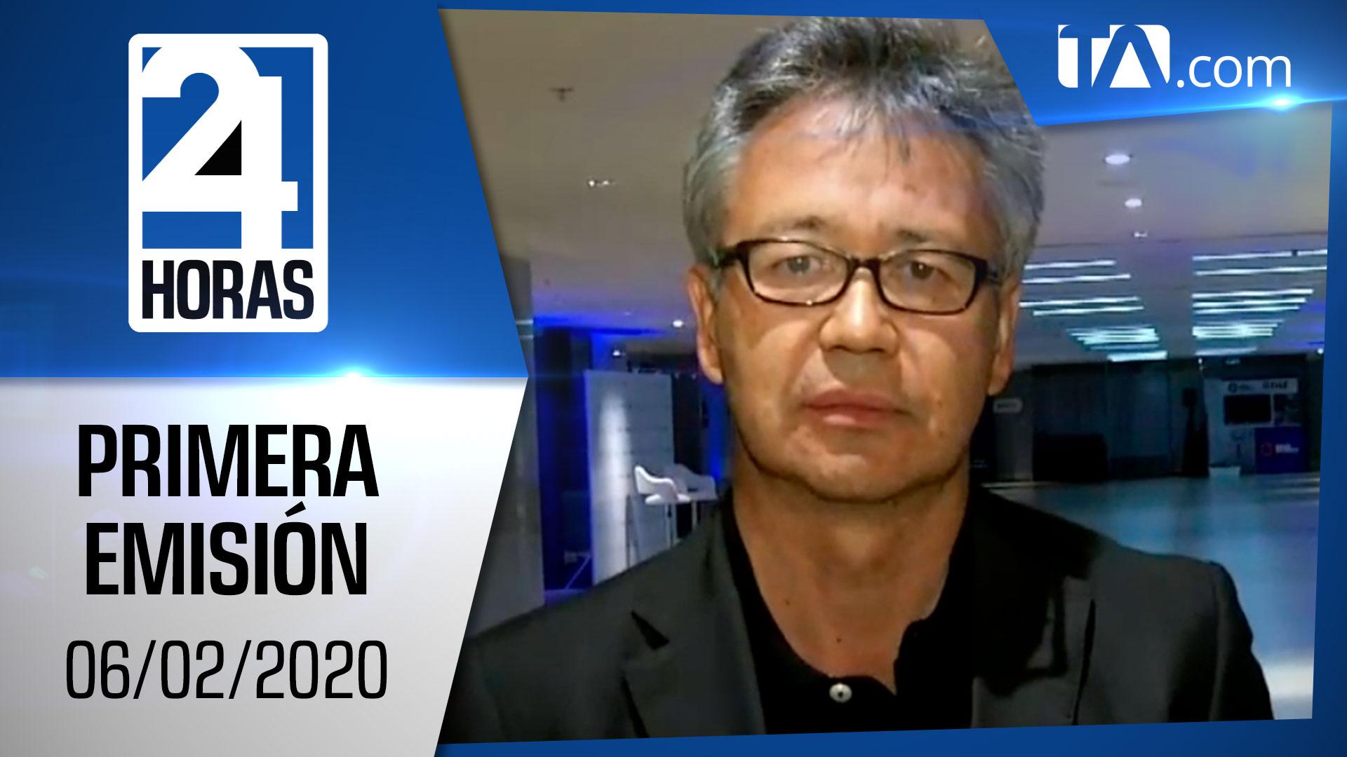Noticias Ecuador :Noticiero 24 Horas 06/02/2020 (Primera Emisión)