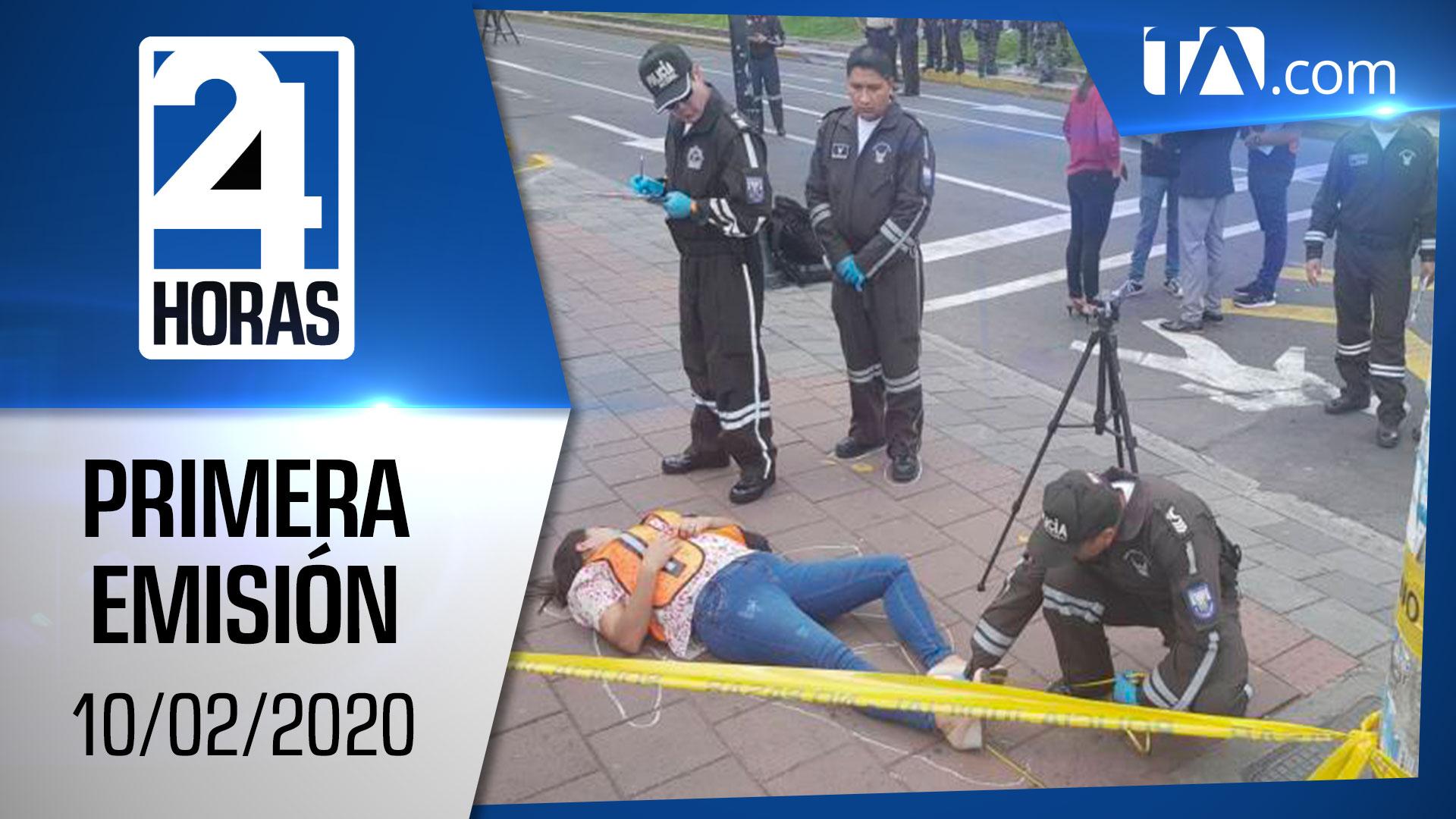 Noticias Ecuador: Noticiero 24 Horas 10/02/2020 (Primera Emisión)