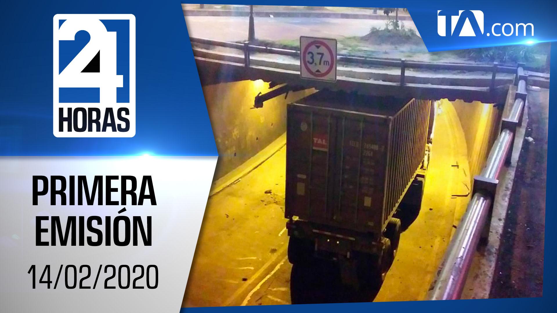 Noticias Ecuador: Noticiero 24 Horas 14/02/2020 (Primera Emisión)