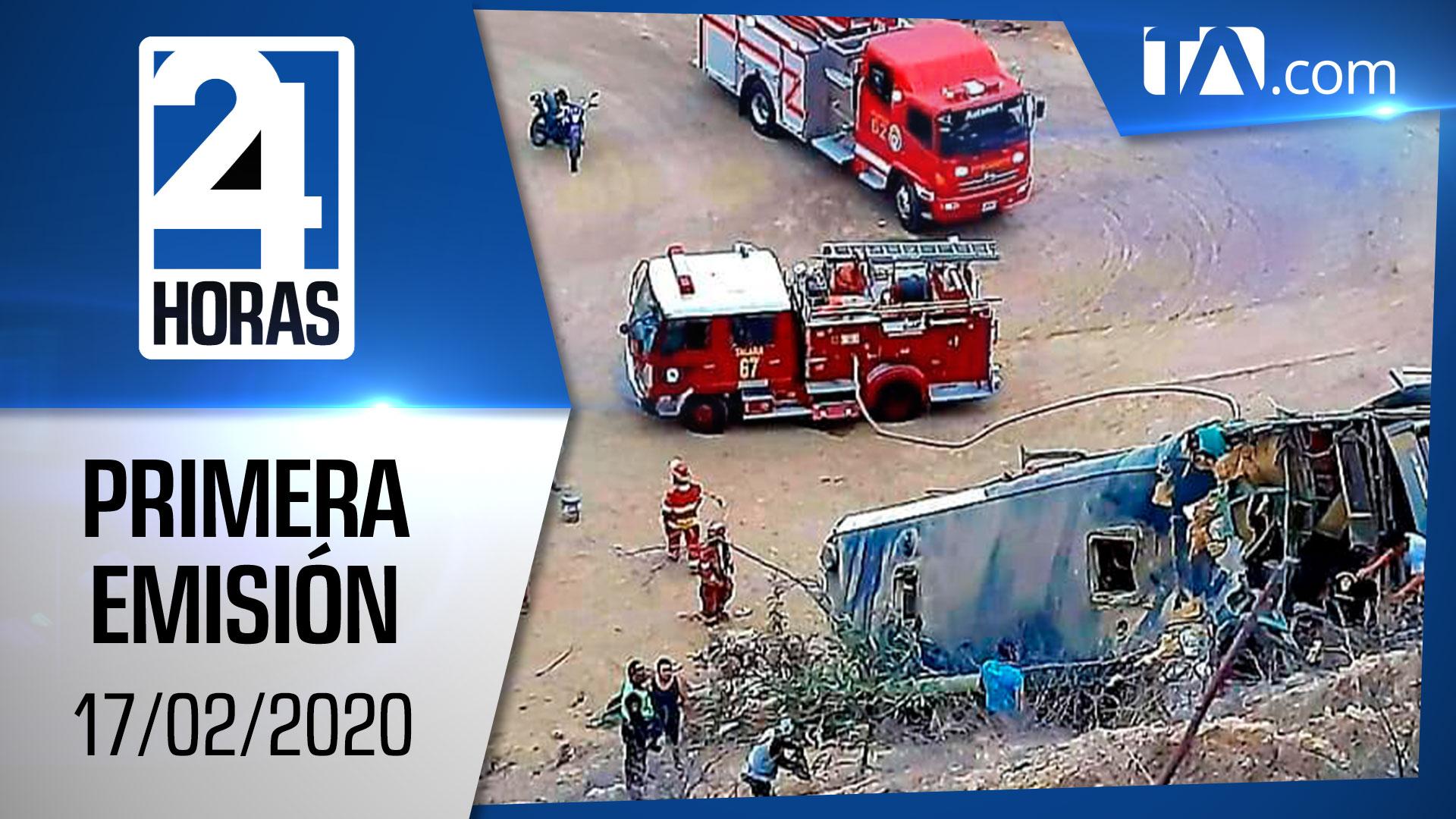 Noticias Ecuador: Noticiero 24 Horas 17/02/2020 (Primera Emisión)