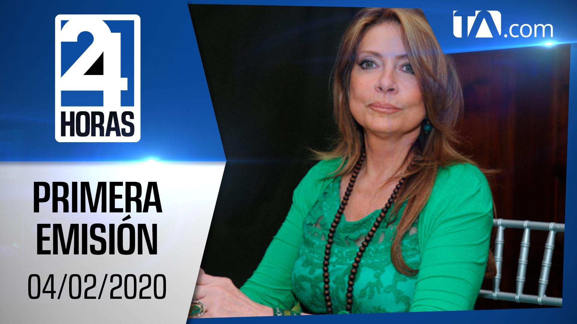 Noticias Ecuador: Noticiero 24 Horas 04/02/2020 (Primera Emisión)