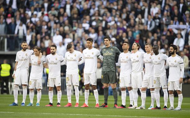 Minuto de silencio en el Santiago Bernabéu en memoria de Kobe Bryant