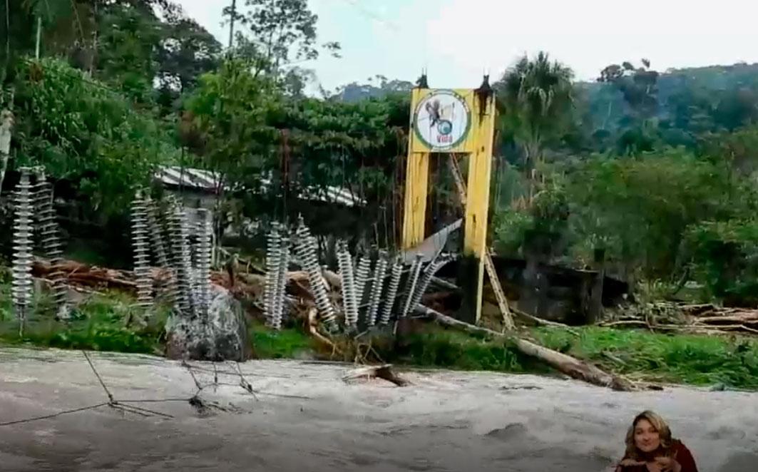 Ríos desbordados y familias afectadas dejan las fuertes lluvias