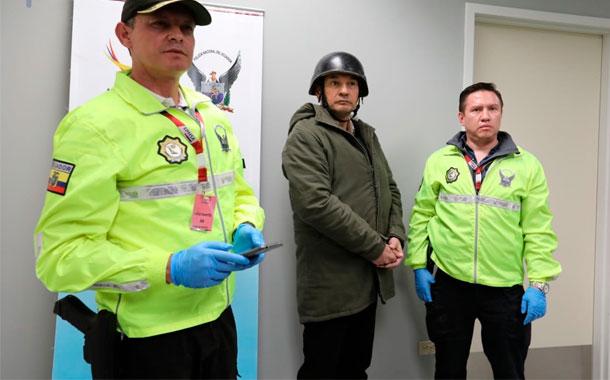 Pablo Romero llegó al país y fue trasladado al CDP de Quito