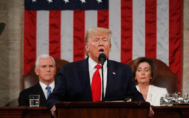 Comienza el discurso de Trump ante el Congreso, con Guaidó como invitado