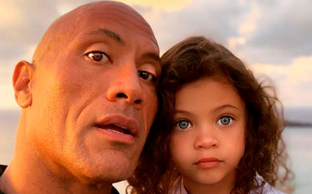 Dwayne Johnson compartió un tierno video con su hija