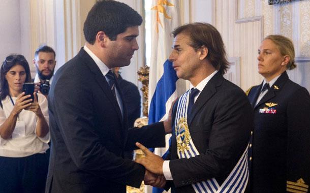 Vicepresidente Sonnenholzner participó en posesión del presidente uruguayo Luis Lacalle Pou