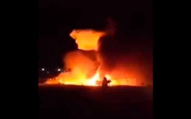 Mueren 8 personas tras un incendio en un avión que trasportaba suministros médicos