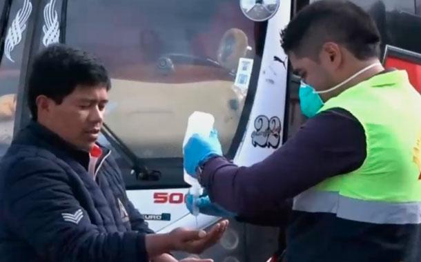 Campañas de desinfección en espacios públicos y unidades educativas en Tulcán