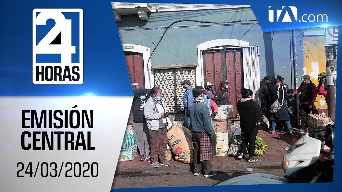 Noticiero 24 Horas, 24/03/2020 (Emisión Central)