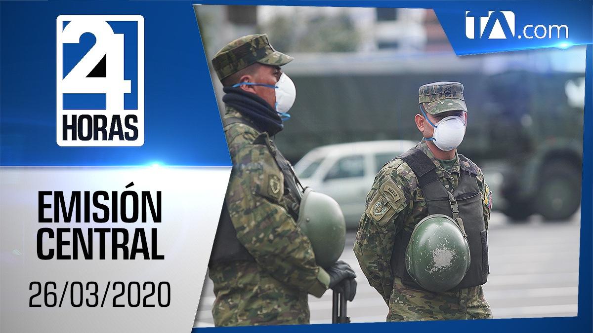 Noticiero 24 Horas, 26/03/2020 (Emisión Central)