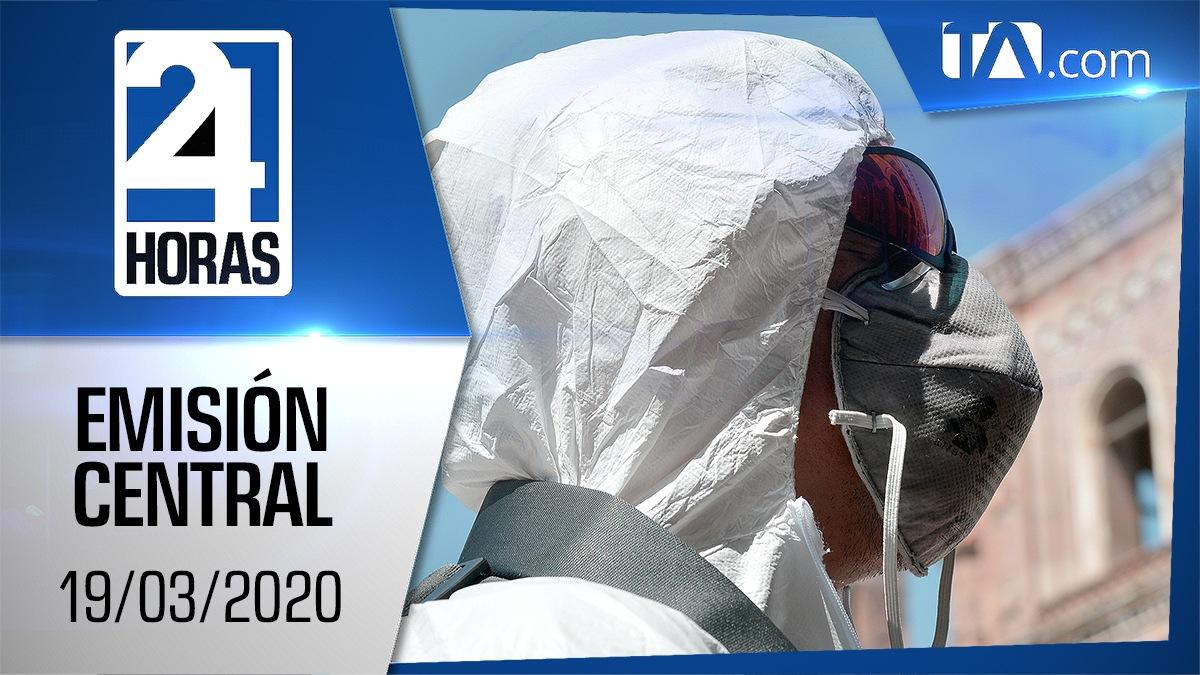 Noticiero 24 Horas, 19/03/2020 (Emisión Central)