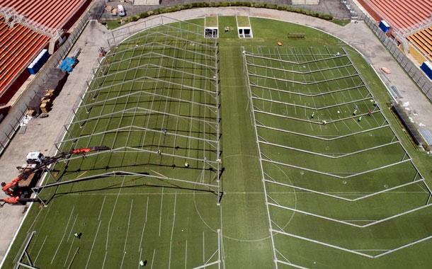 Estadio de Sao Paulo se transforma en hospital por COVID-19