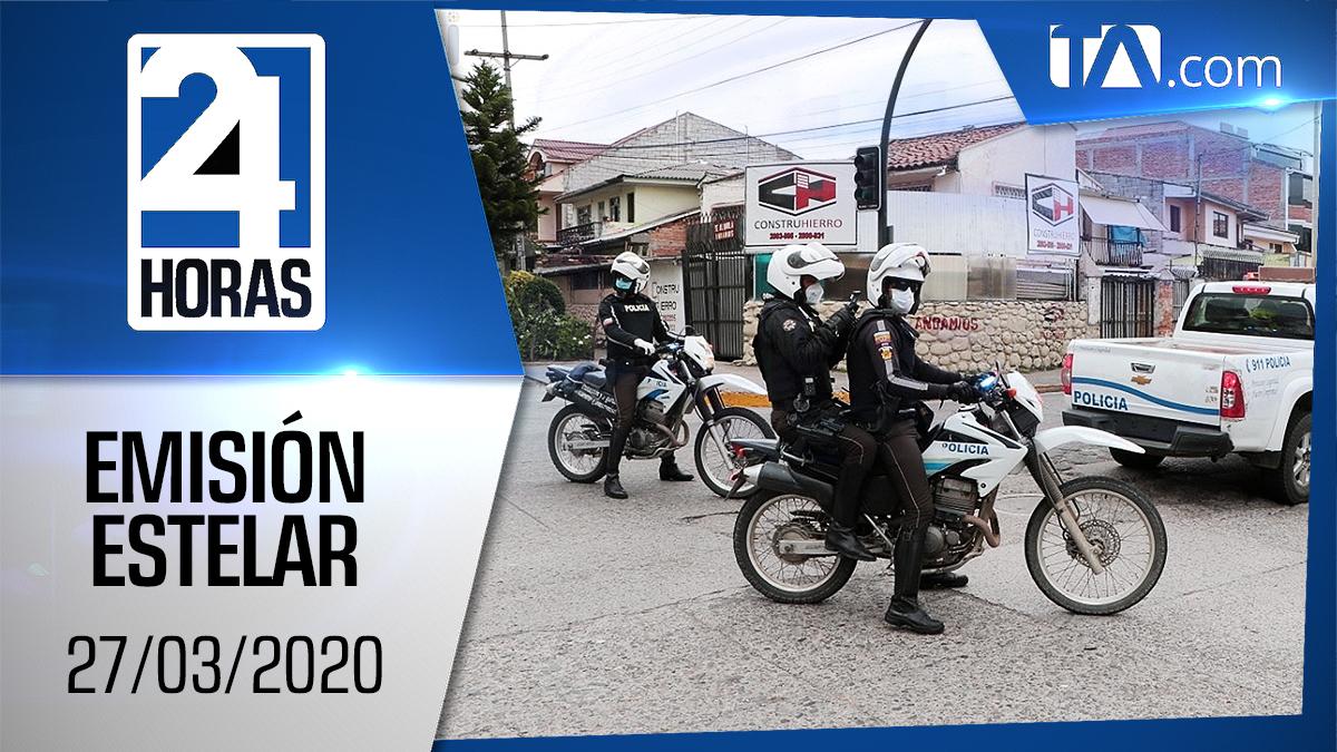 Noticiero 24 Horas, 27/03/2020 (Emisión Estelar)