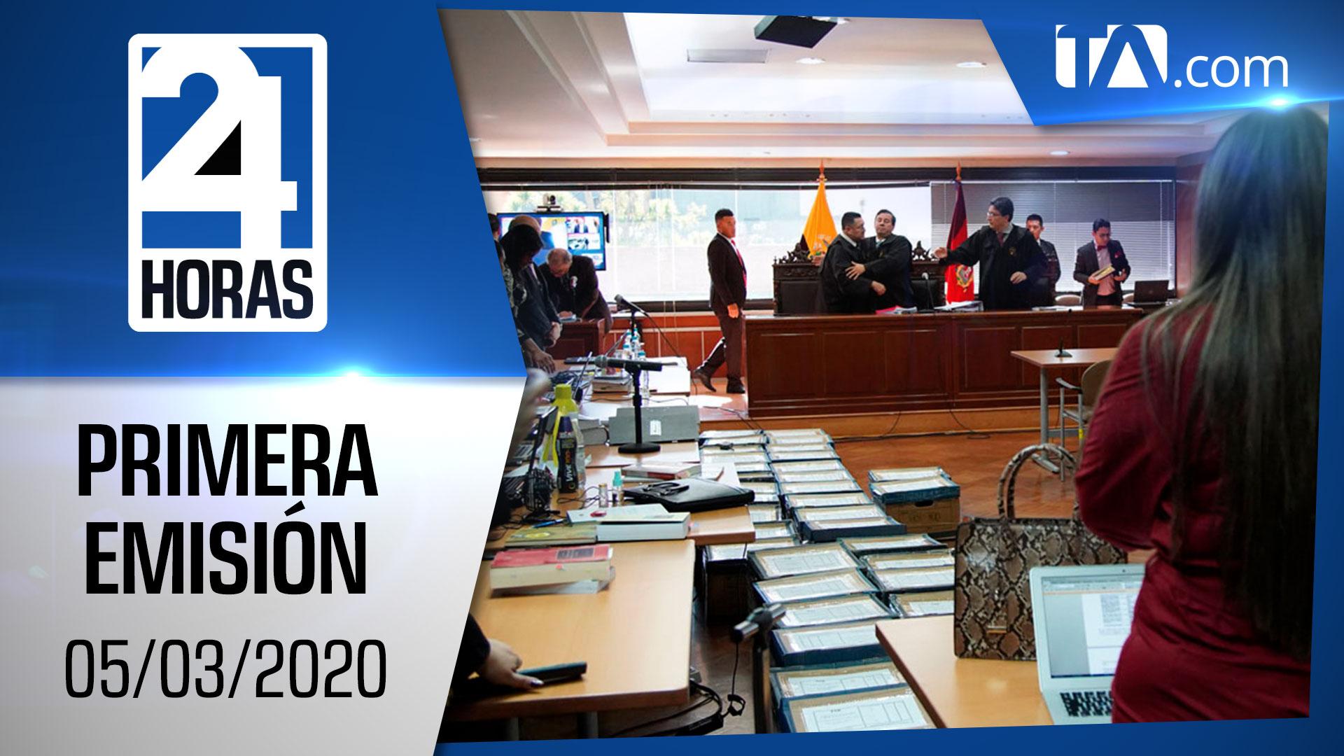 Noticias Ecuador: Noticiero 24 horas 05/03/2020 (Primera Emisión)