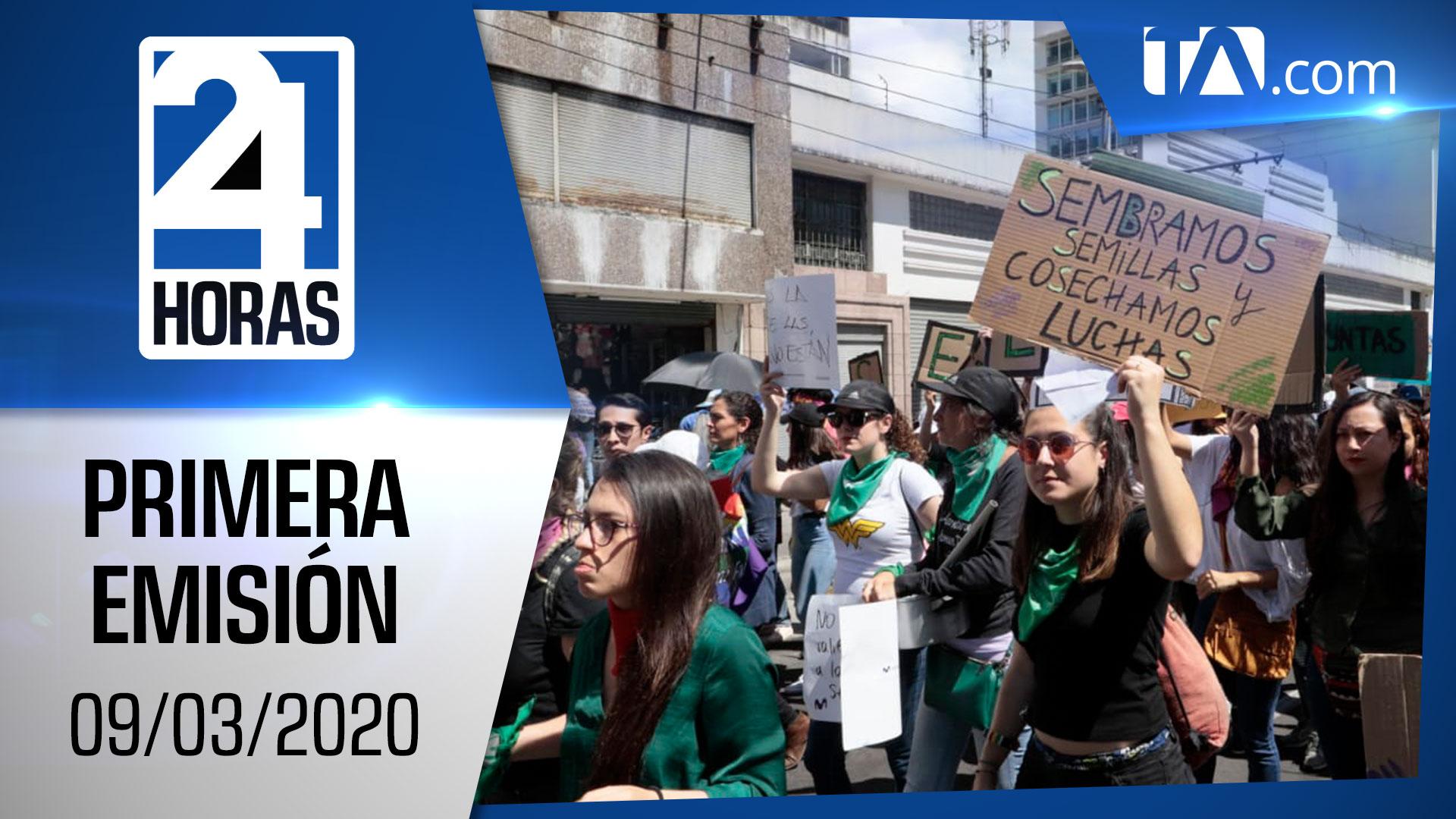 Noticias Ecuador: Noticiero 24 Horas 09/03/2020 (Primera Emisión)