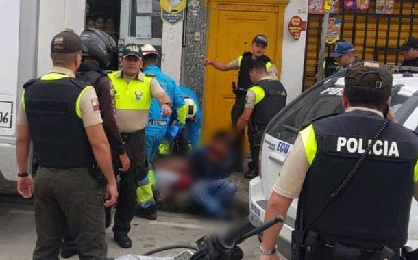 Persecución policial deja un delincuente herido