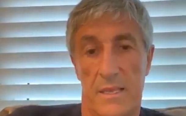 El técnico de FC Barcelona hace llamado a quedarse en casa