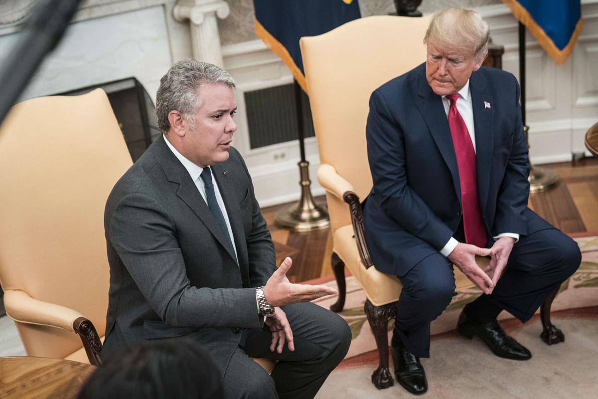 Iván Duque se reúne con Trump para hablar sobre la lucha contra el narcotráfico