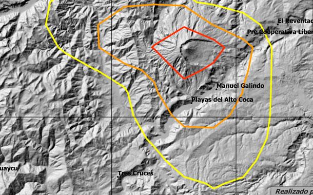 IG reporta caída de ceniza por Volcán Reventador