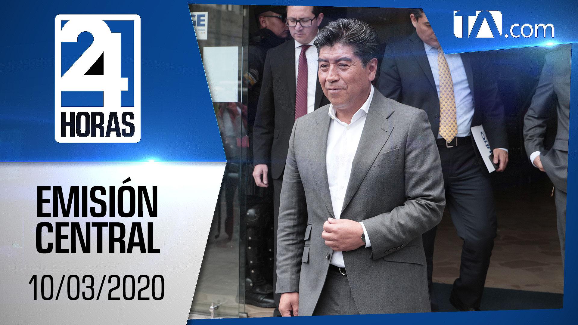 Noticiero 24 Horas, 10/03/2020 (Emisión Central)