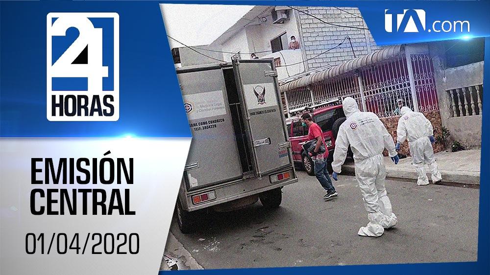 Noticiero 24 Horas, 01/04/2020 (Emisión Central)