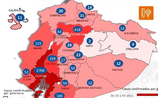 Ecuador eleva a 220 el número de fallecidos por coronavirus