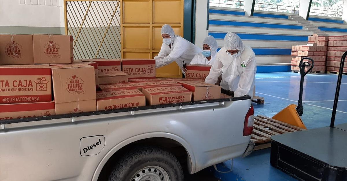 Al menos 200 000 personas recibieron donaciones de comida