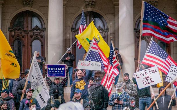 Protestas contra el confinamiento en Estados Unidos