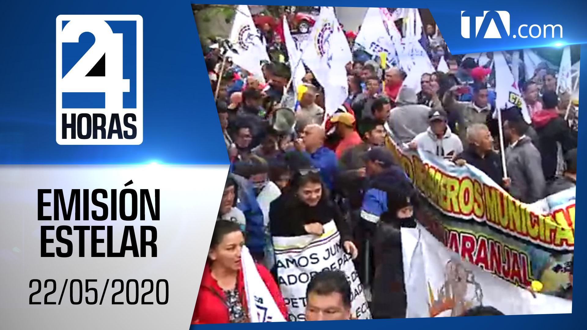 Noticias Ecuador: Noticiero 24 Horas, 22/05/2020 (Emisión Estelar)