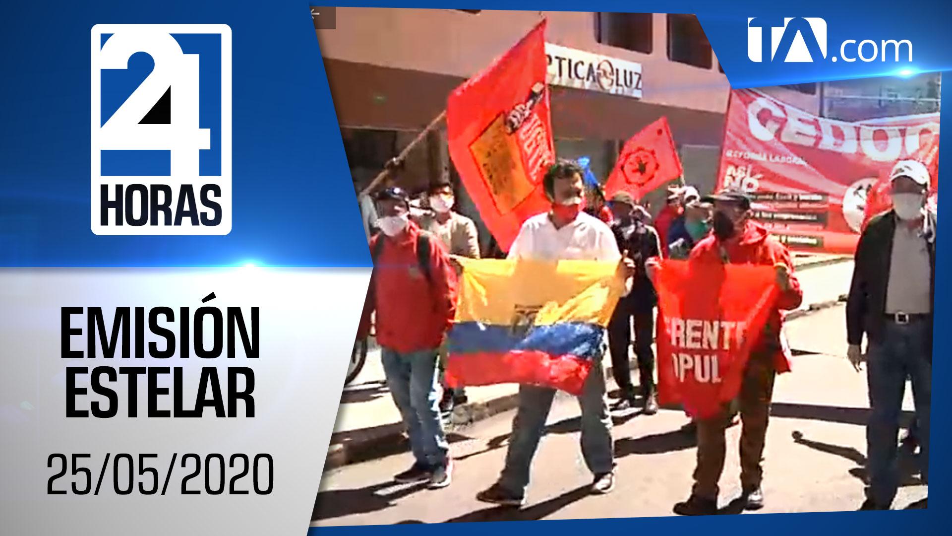Noticias Ecuador: Noticiero 24 Horas, 25/05/2020 (Emisión Estelar)