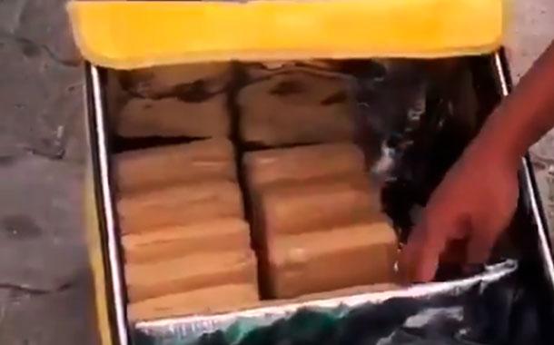 Ciudadanos extranjeros transportaban droga camuflados de repartidores de comida en Quito