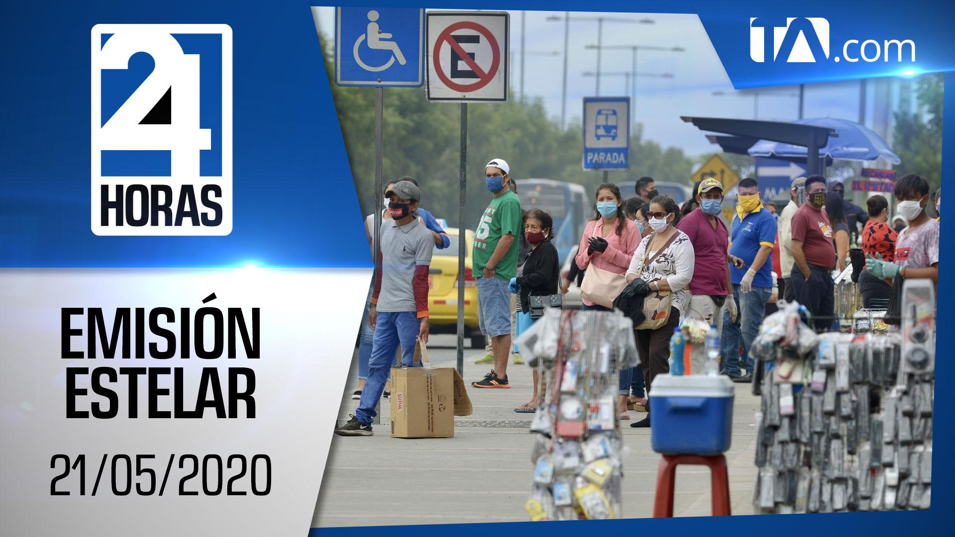 Noticias Ecuador: Noticiero 24 Horas, 21/05/2020 (Emisión Estelar)