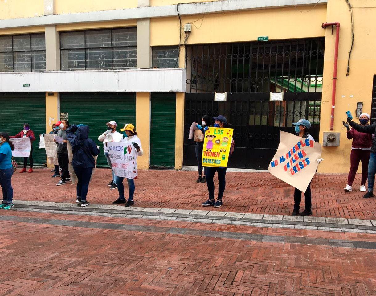 Trabajadores de Guagua Centros realizaron un plantón