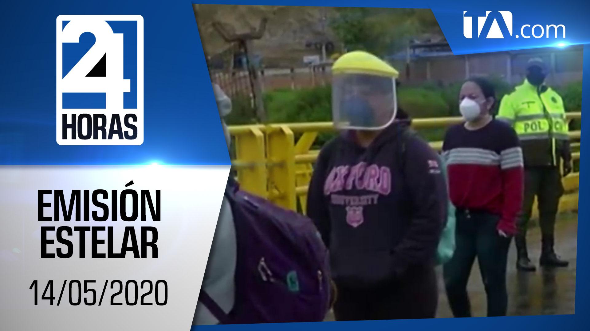 Noticias Ecuador: Noticiero 24 Horas, 14/05/2020 (Emisión Estelar)