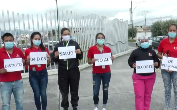 Personal de salud protesta debido a recortes que hizo Ministerio de Salud