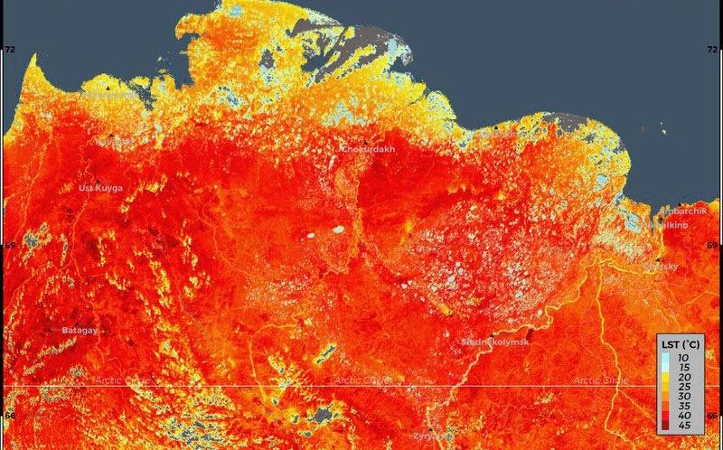 Ola de calor en el Ártico  alarma a los científicos