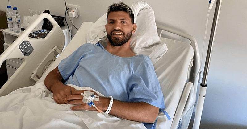 Sergio Agüero fue operado con éxito de su rodilla izquierda