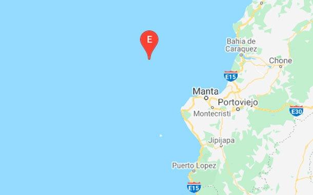 Un temblor marino de magnitud 4,2 cerca de Manta