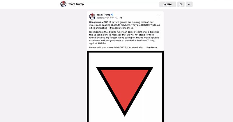 Facebook retira anuncios en favor de Trump por usar un símbolo nazi