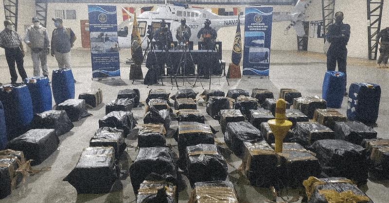 Operativo antinarcóticos evitó envío de cocaína desde Ecuador