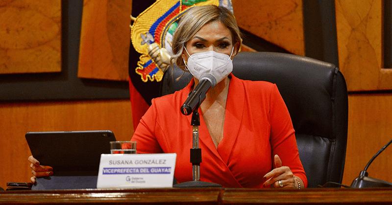 Susana González llegó este jueves a las instalaciones de la prefectura