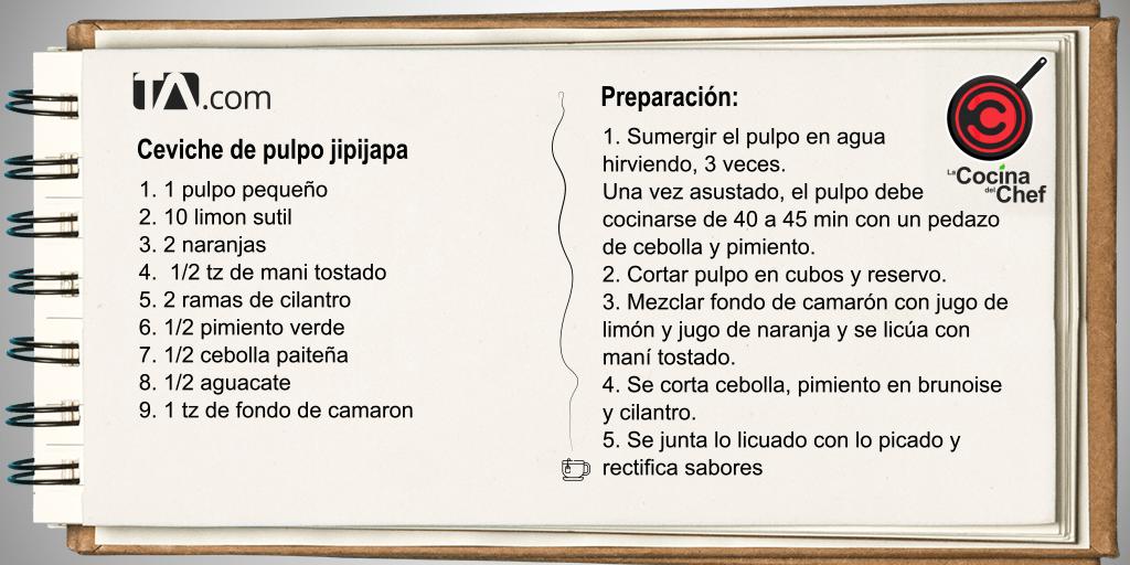 ceviche de pulpo jipijapa